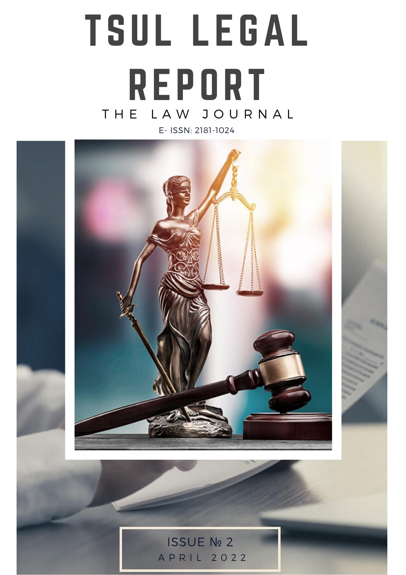 View Vol. 2 No. 1 (2021): TSUL Legal Report